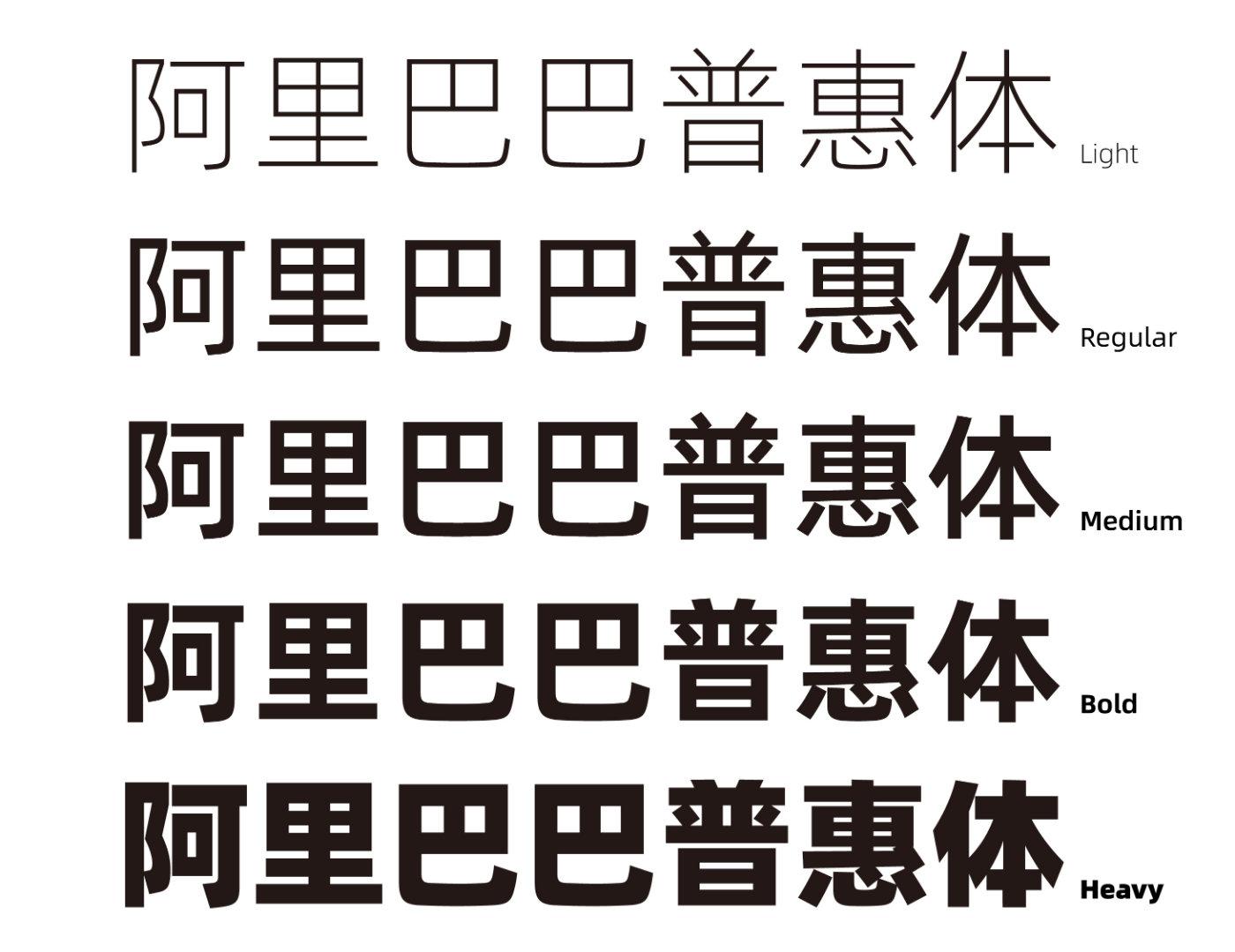 定制字体新闻案例—阿里巴巴普惠体